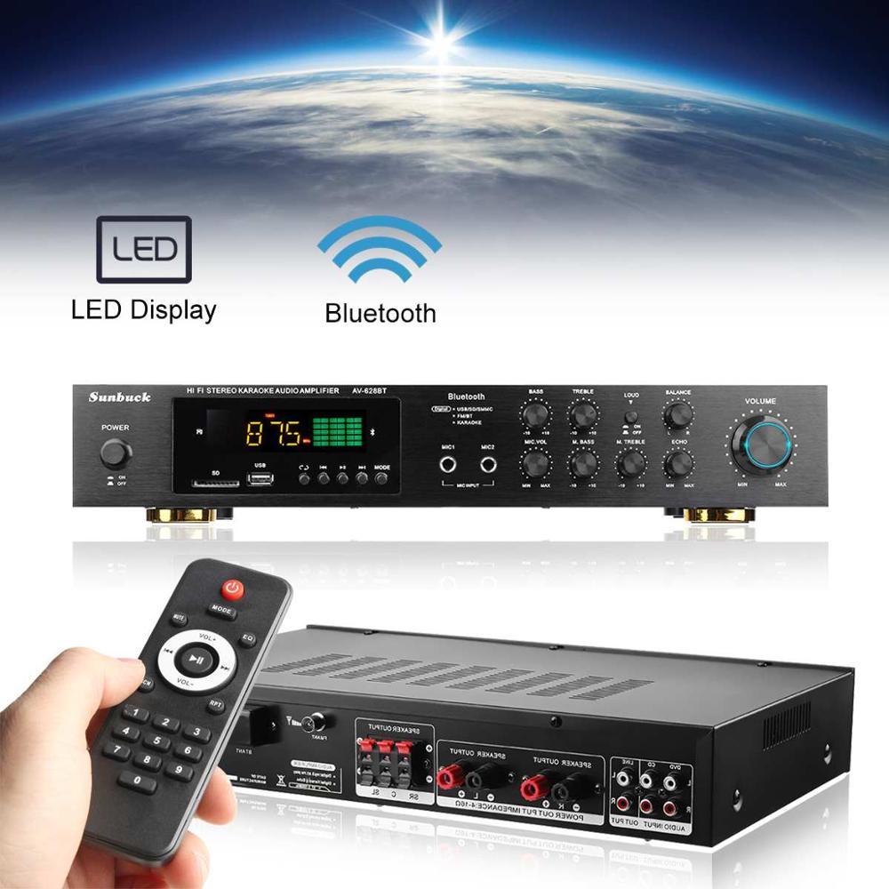 Free Shipping Wireless Version USB/SD Audio Amplifier 1120W 5CH bluetooth Power Amplifer Stereo Surround Home Karaoke Cinema фото