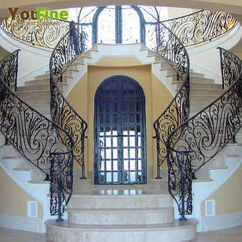 Beau Custom Wrought Iron Stair Railing For Sales
