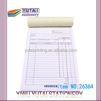 bill book printing design invoice book vista print invoice books