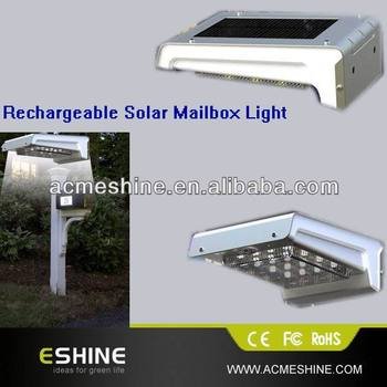 Hot Selling Ip65 Solar Led Mailbox Light Garden Or Road