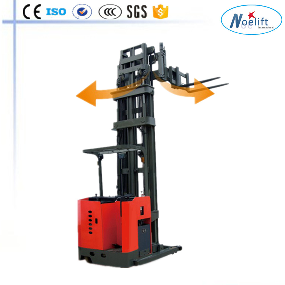 three- way die truck handler 1T 1.5T electric pallet stacker narrow aisle forklift