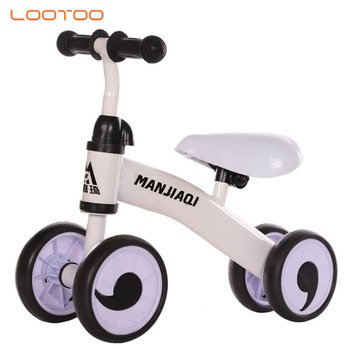Cheap price 4 wheel mini balance trike for one year old / no pedal bike for toddlers / kids metal balance bike