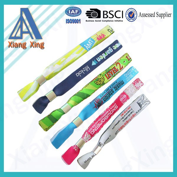 Wholesale cheap festival bracelet polyester event woven wristband