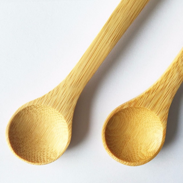 wooden disposable bamboo cooking utensils spoon fork set