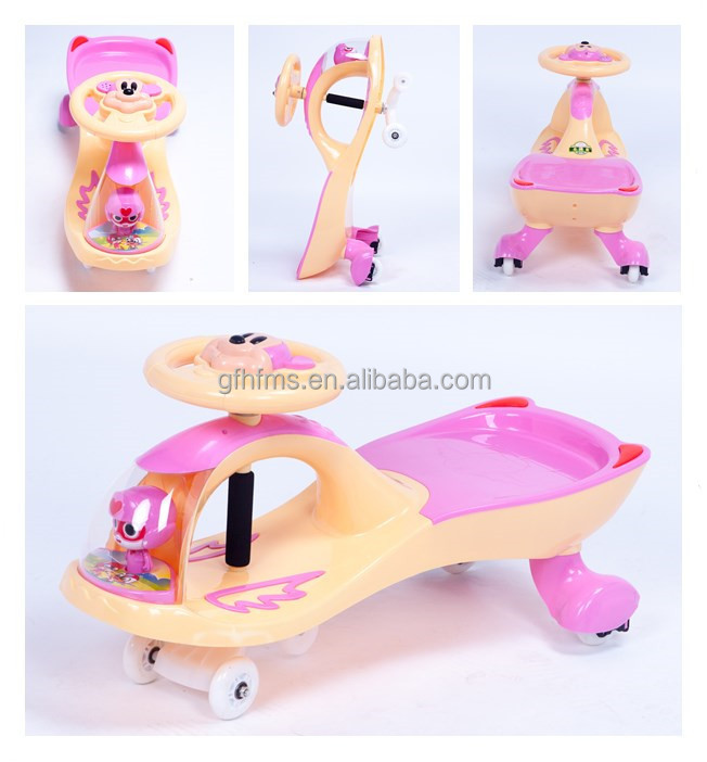Made In China Saleable Type Baby Plastic Toy Ride On Twist Swing Car