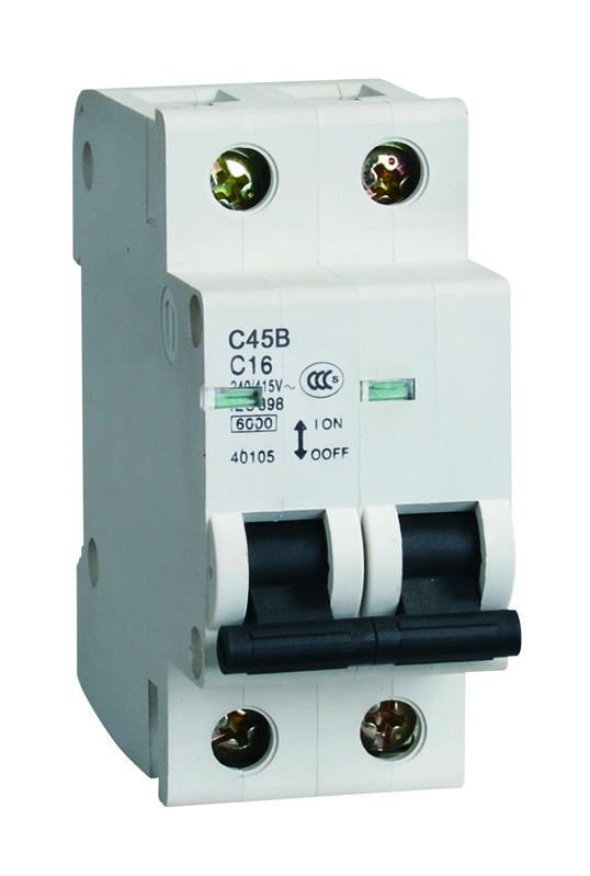 Popular Type 2 Poles Miniature Circuit Breaker C45b Electric ...