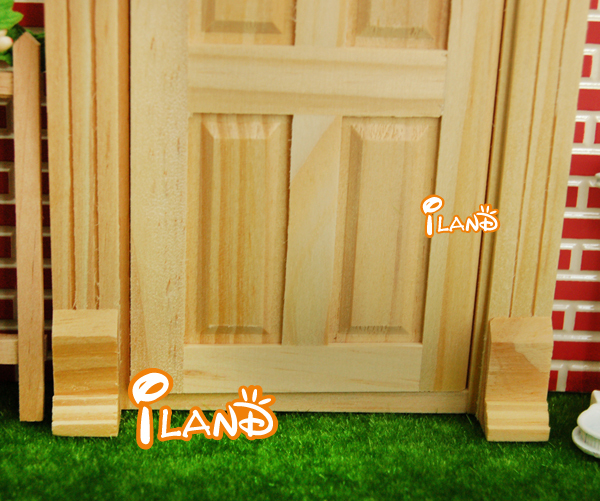 Small Fairy Door Mini Doors Wood Plain Door Yorktown Door With Dentil Moulding OA011D : mini doors - pezcame.com