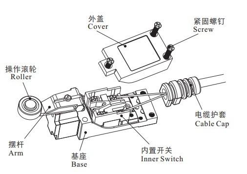 5a  250vac ul u0026rohs roller plunger type cam roller shutter limit switch z