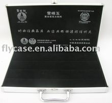 2012 new design aluminium stone box ,sample display case with locks and print logo