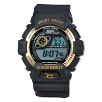 Popular in Europe Market Silicone LED Digital Mens Sports Watches Wholesale
