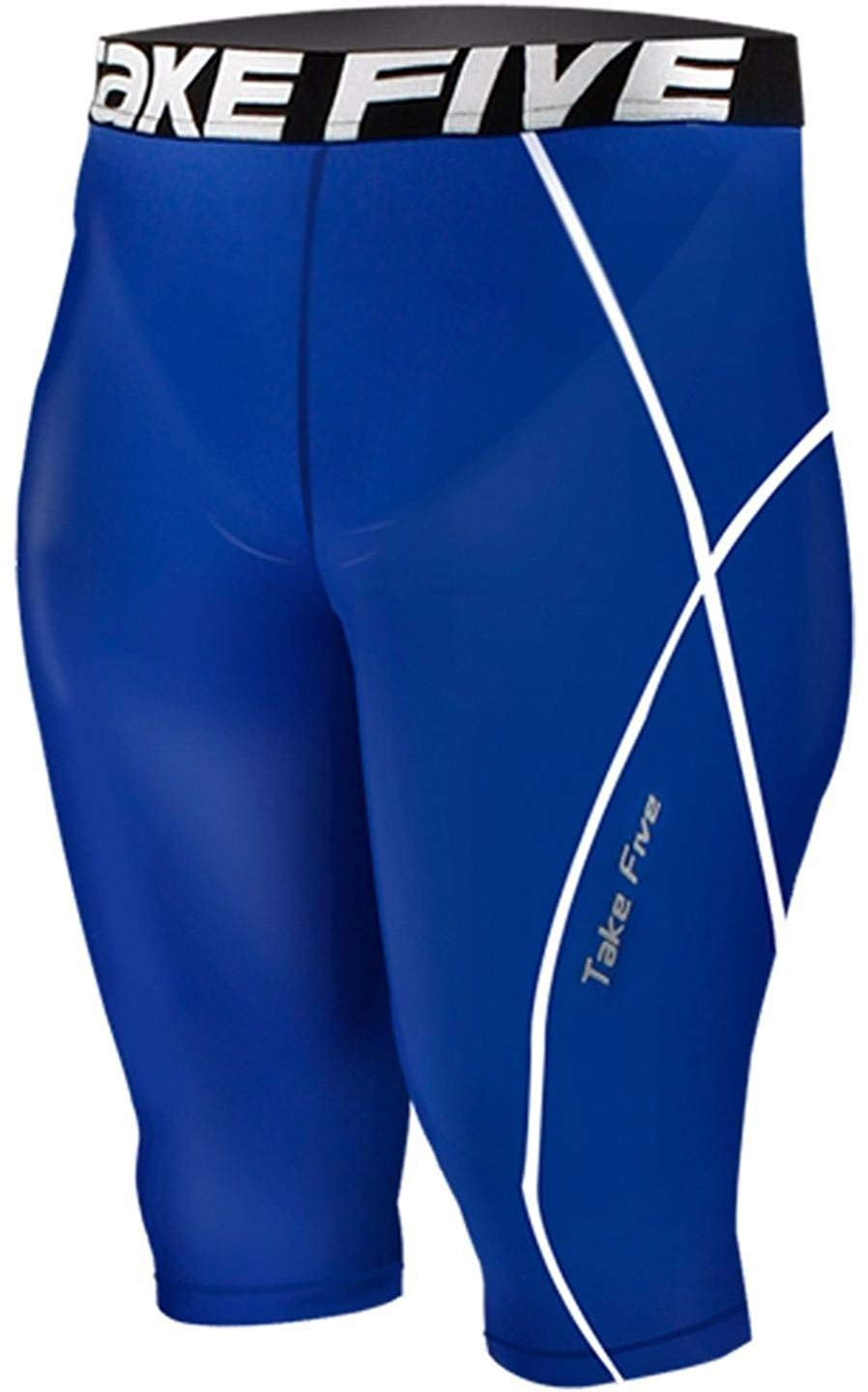 b085d46a2c Get Quotations · JustOneStyle New 082 Skin Tights Compression Base Layer  Blue Running Shorts Pants Mens