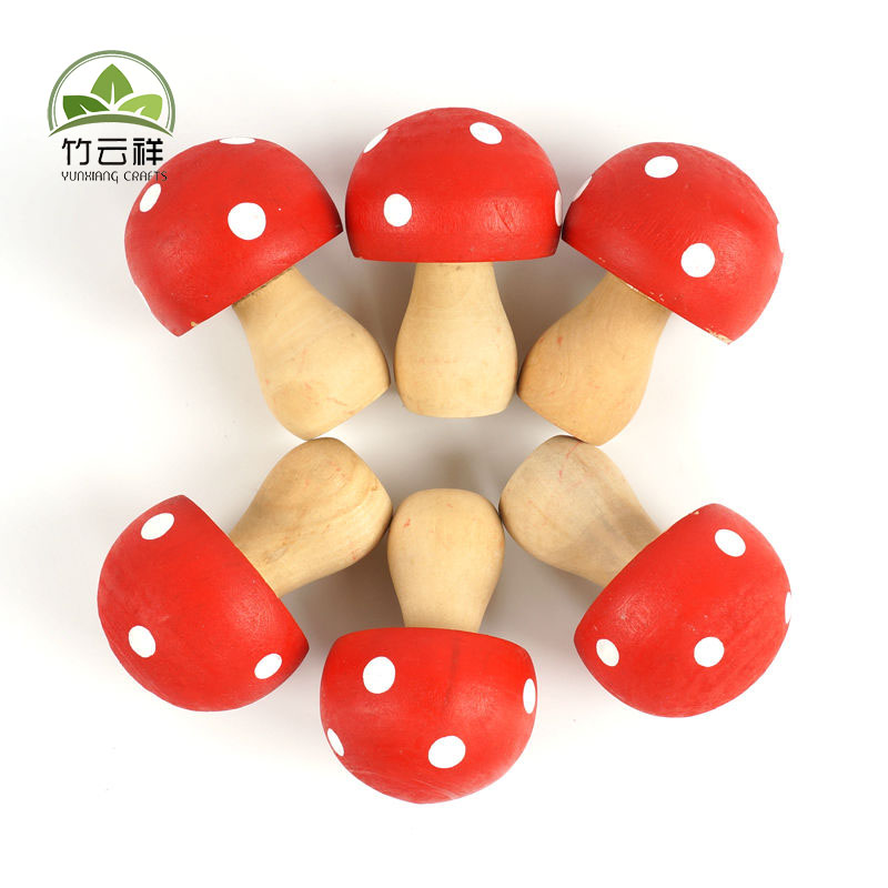 Wooden home decoration Mushrooms Miniature Fairy Garden Houses Decoration