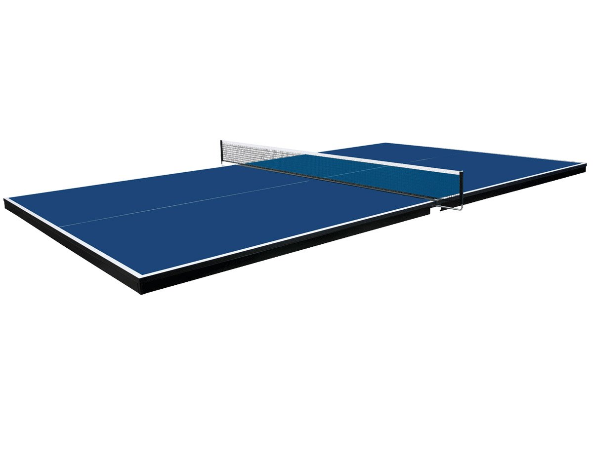 Martin Kilpatrick Conversion Table Tennis Top for Pool Table - Blue, Green, or Grey Colors - With or Without Ping Pong Paddle Set - 3 Yr Warranty - Net Set - Protection Pads and Rails
