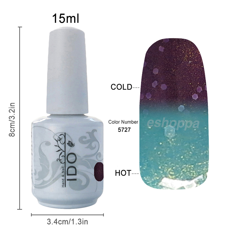 48 Colors IDO 5727 Nail Art Supplies UV Gel Changing Color Gel Lacquer
