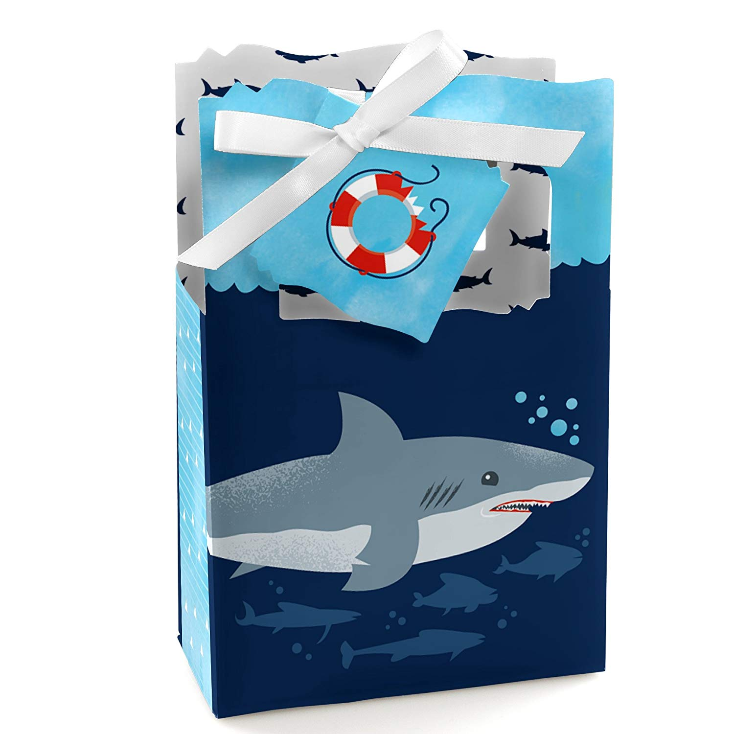 Shark Zone - Jawsome Shark Party or Birthday Party Favor Boxes - Set of 12