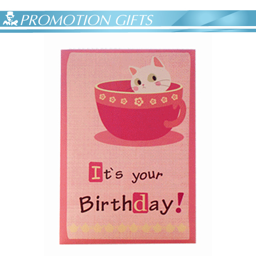 Custom LED falshlight cute music birthday card