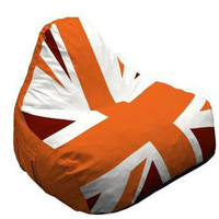 Cheap chair shaped customized big England flag bean bag