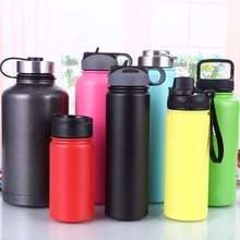 Multiple Volumes Colorful Double Wall Stainless Steel Novelty Sports Bottle