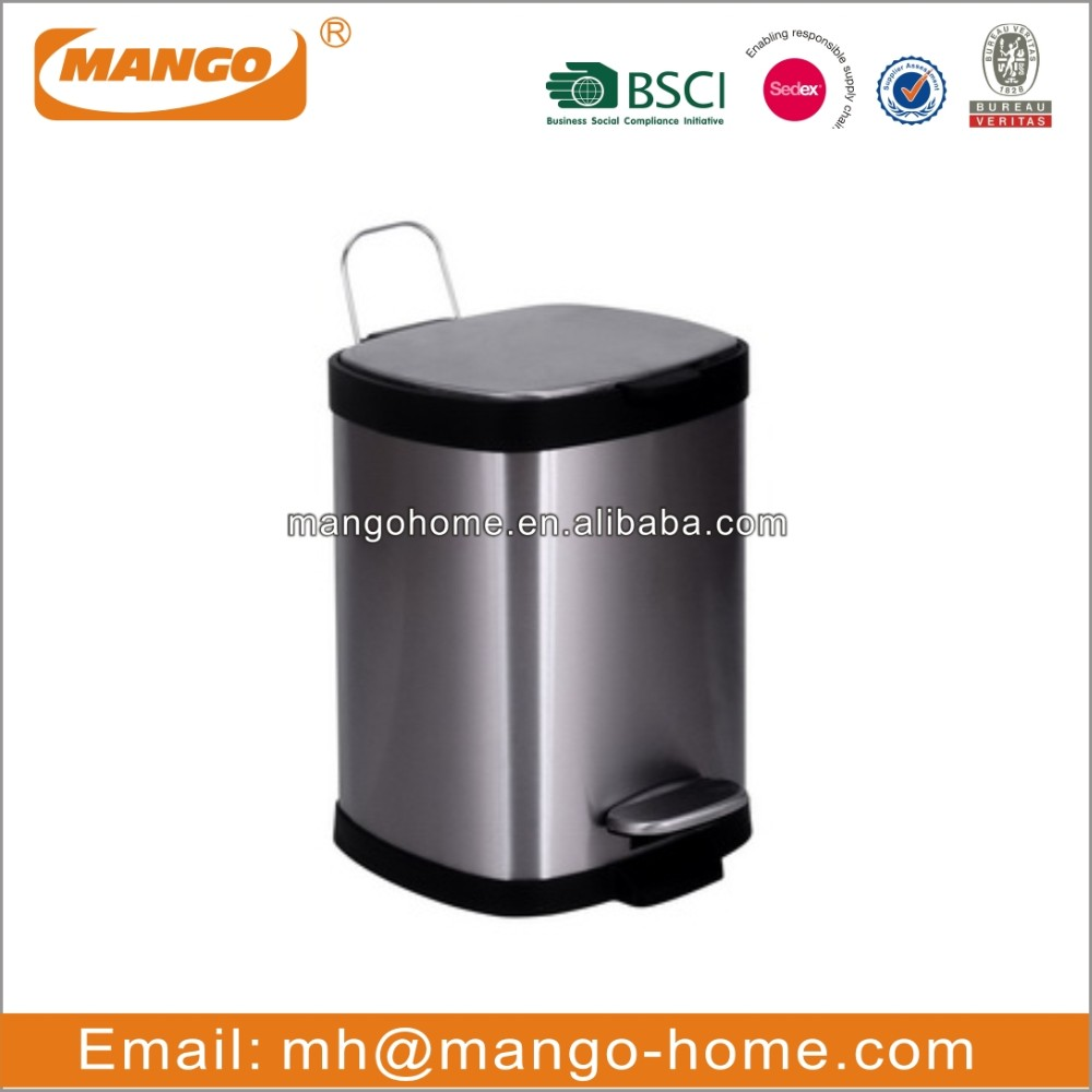 Open Top Stainless Steel Ashtray Ash Waste Bin