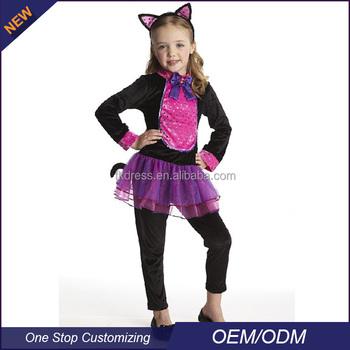 oem cat girl halloween costumes for kids