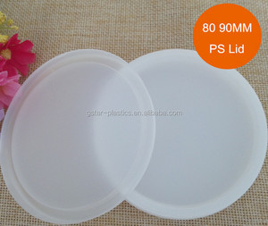 New Style Disposable White Flat PP Plastic Yogurt Cup Lids Covers for Cans Customized 75mm and 85mm
