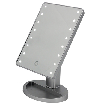 Silver 16 Lighted Led Makeup Mirror Aa Battery Touch Sensor Stepless Dimming Cosmetic Standing Mirror Buy Makeup Mirror With Led Light Best Lighted Makeup Mirror Stand Up Makeup Mirror Product On Alibaba Com