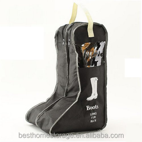 1PCS Durable/High-quality/Practical Large Non-woven Fabric Boots Storage/Protector/Bag with Double Compartment,Black