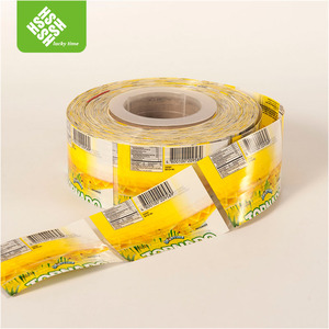 Colorful printing cheap price bottle cap shrink sleeve in roll