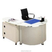 PT-D0410 top sale glass home office table Tempered glass laptop desk/office furniture table