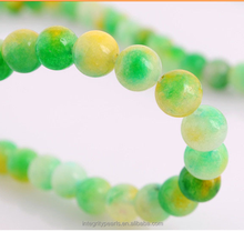 8mm green candy color watermelon natural Chalcedony jade round beads