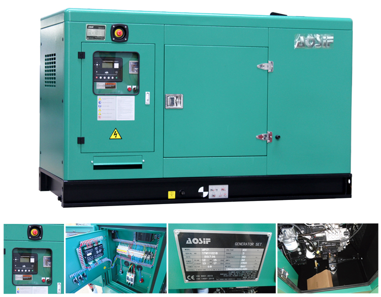 10kw12.5kva 400v 50hz 3 phase generator with perkins engine silent low noise diesel generator