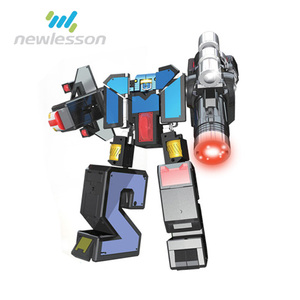 Toy transforming cute robot with light and sound in Toy Robot for Christmas Gifts