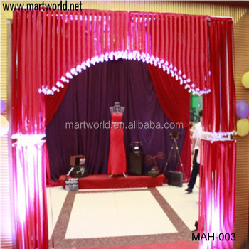 Whole sale fibric and metal material wedding stage decoration whole sale fibric and metal material wedding stage decorationwedding backdrop for weddingparty decoration junglespirit