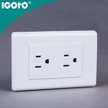 Igoto American Type A20-105/2 double 3 pin power wall socket outlet