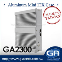 Fully Aluminum Fanless PC Case GA2300 Mini Computer Case ITX