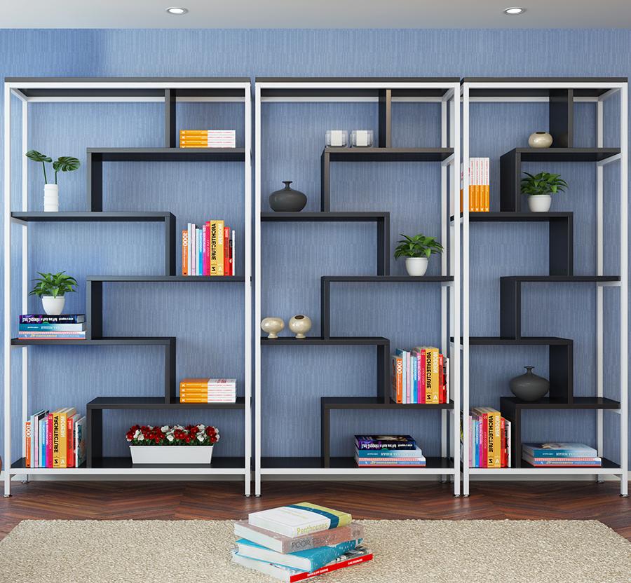 Venta al por mayor estantes para libros madera y metal-Compre online ...
