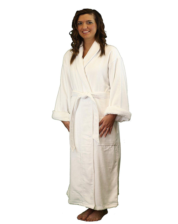825fa69224 Get Quotations · Terry Velour Shawl Bathrobe - Luxury Hotel   Spa Quality  Bathrobe for Women and Men