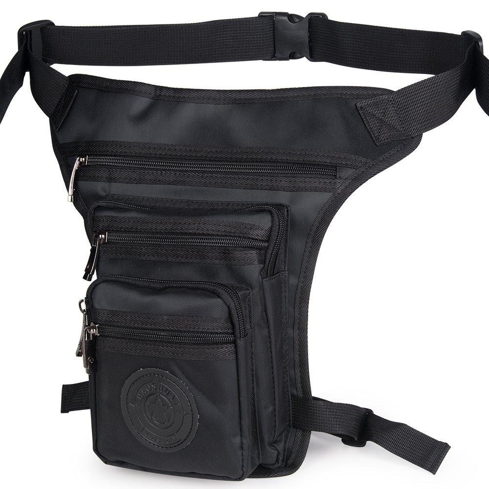 Yoler Military Tactical Drop Leg Bag,Hiking Waist Bag Canvas Sports Racing Drop Tactical Leg Bag Fanny Pack Bike Cycling Hip Bag