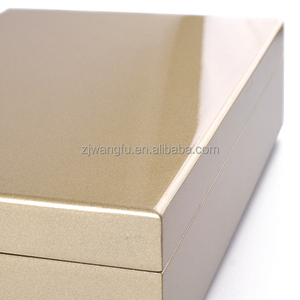 Luxury pearl gloden high glossy piano finish wood box for jewelry