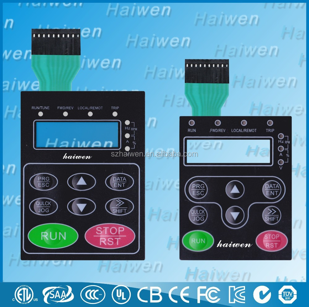 high-quality LCD Display Window Membrane Overlay Keypads