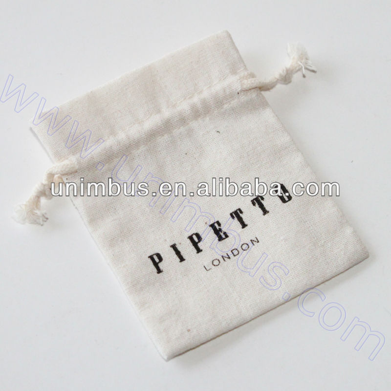 custom small cotton sachet bag for cosmetic samples