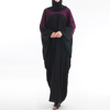 high quality new design matching color cotton muslim abaya arab kaftan dresses for women