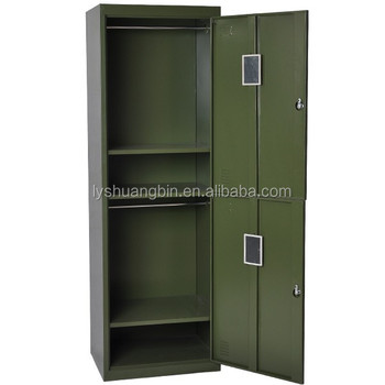 metal storage cabinet. Luoyang Military Steel Metal Locker/green Color Two Door Storage Cabinet