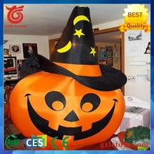 Inflatable Pumpkin led lighting Halloween Model With Hat