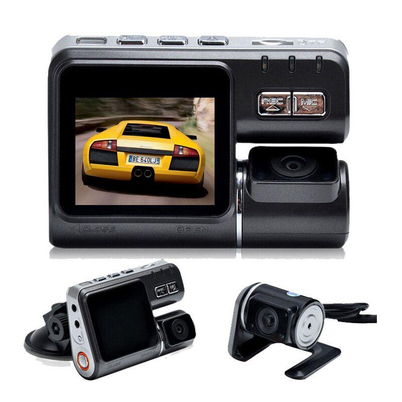 i1000 car dvr dual lens car camcorder dash cam with dual camera 2 rear view camera vehicle. Black Bedroom Furniture Sets. Home Design Ideas