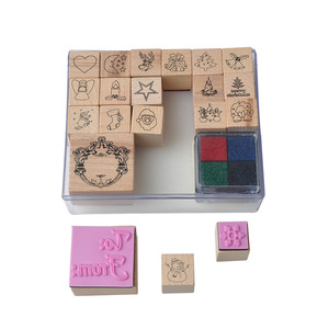 Kids Christmas Drawing Tools Toys Accessories wholesale wood stamp
