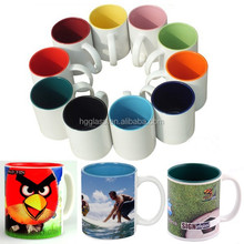 11oz inner colorful sublimation mug for printing