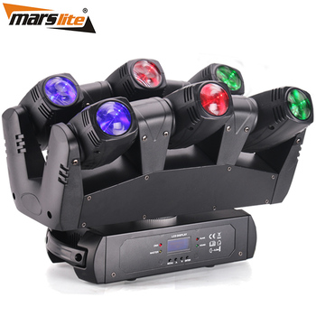 2018 New style stage six shooter de luz 6 pcs 10 w RGBW 4in1 led feixe moving head, luz Dj para a fase bar