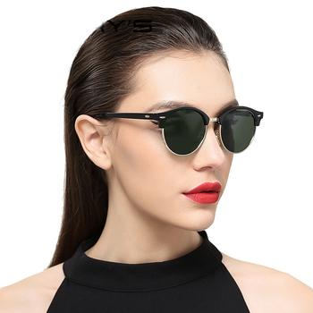 92bff77d6a New Women Retro Rivet Polarized Sunglasses Classic Cool Color Lens Men  Sunglasses Half Frame