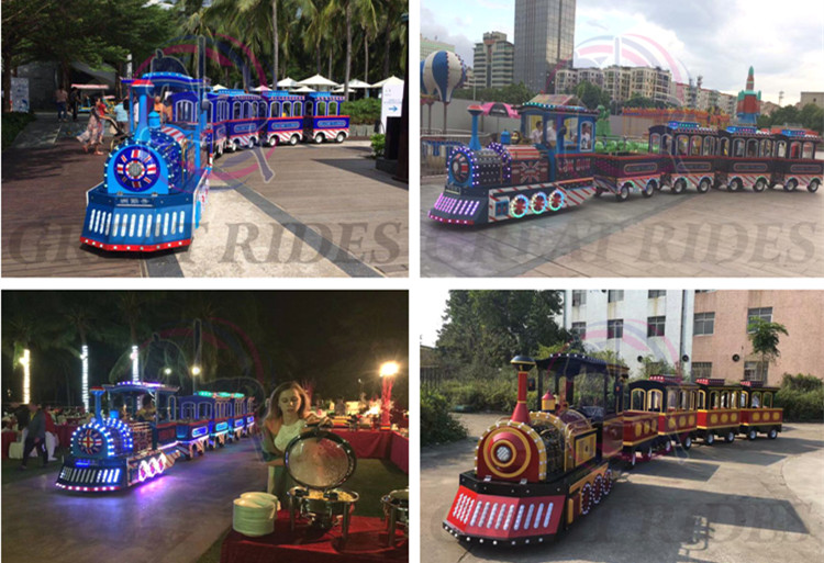 Quadrado jogos de diversões crianças favorito mini trackless comboios eléctricos passeios para passear